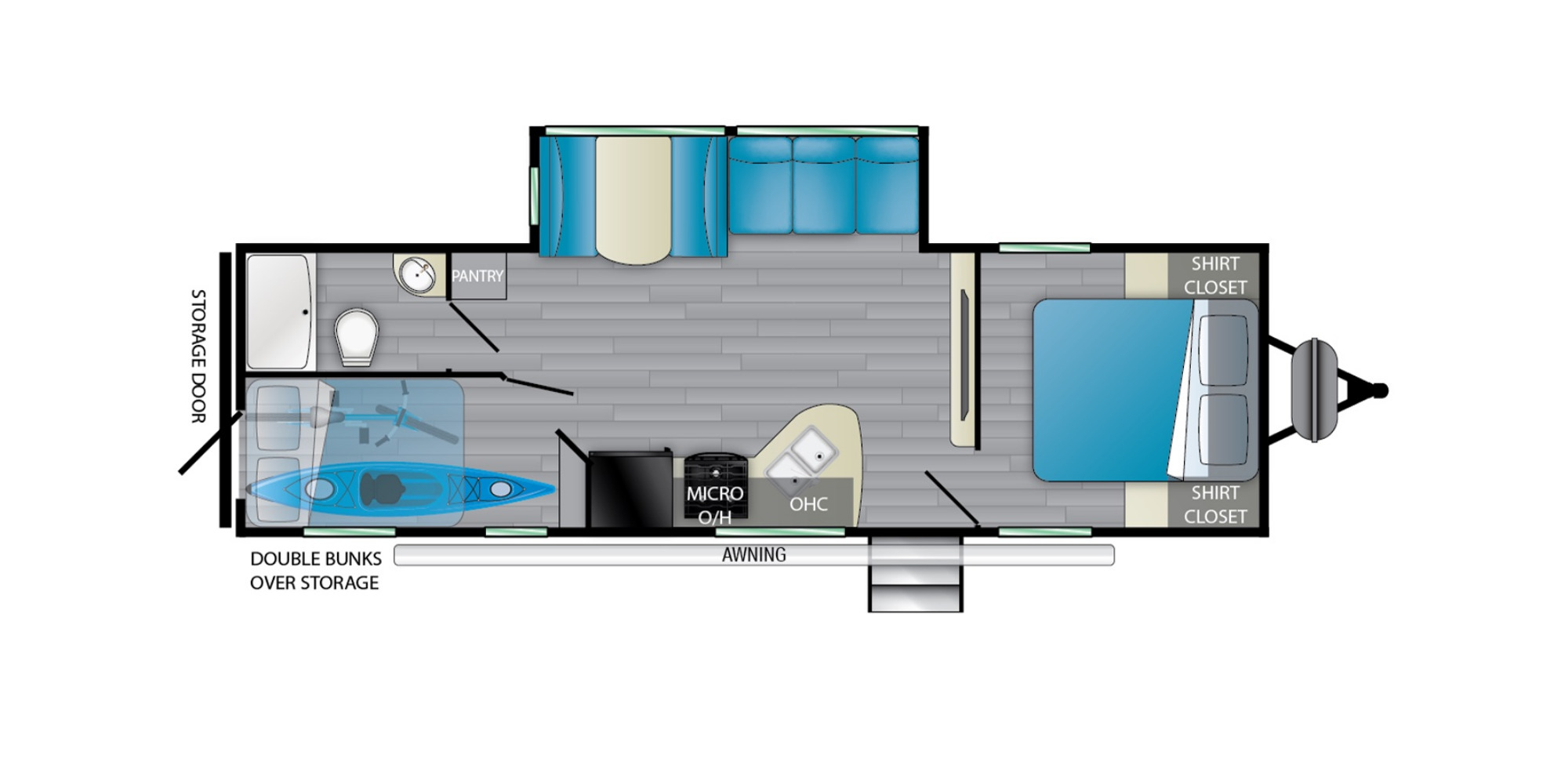 View Floor Plan for 2022 HEARTLAND PROWLER 271BR