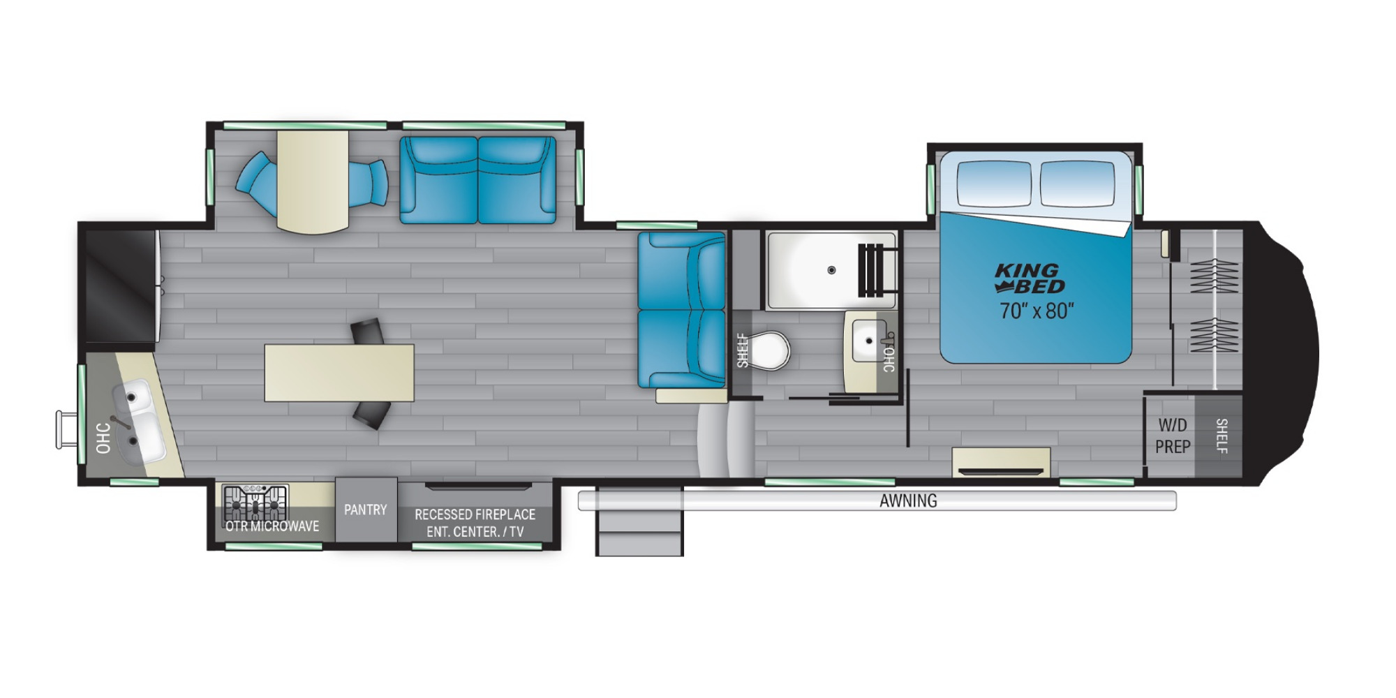 View Floor Plan for 2022 HEARTLAND BIGHORN 3120RK