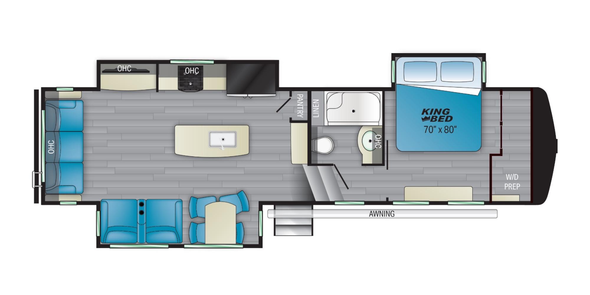 View Floor Plan for 2022 HEARTLAND BIGHORN TRAVELER 32RS
