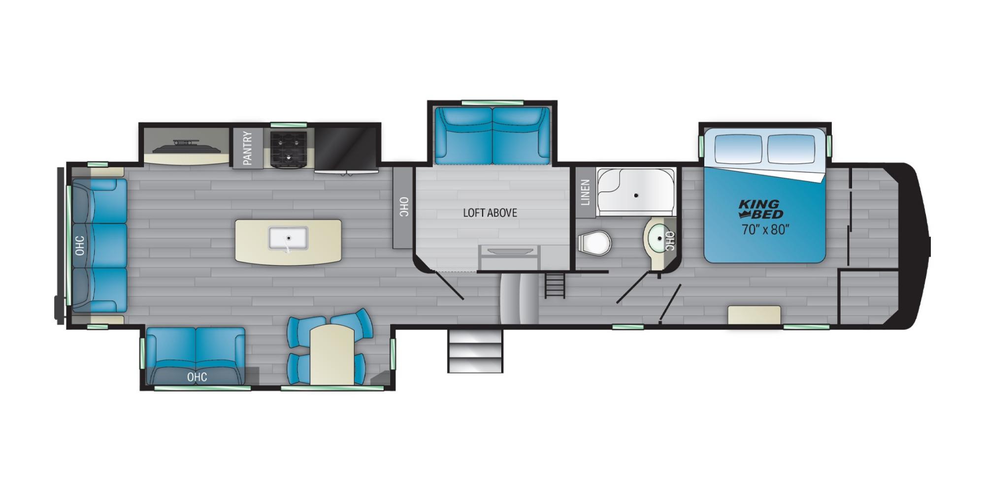 View Floor Plan for 2022 HEARTLAND BIGHORN TRAVELER 39MB