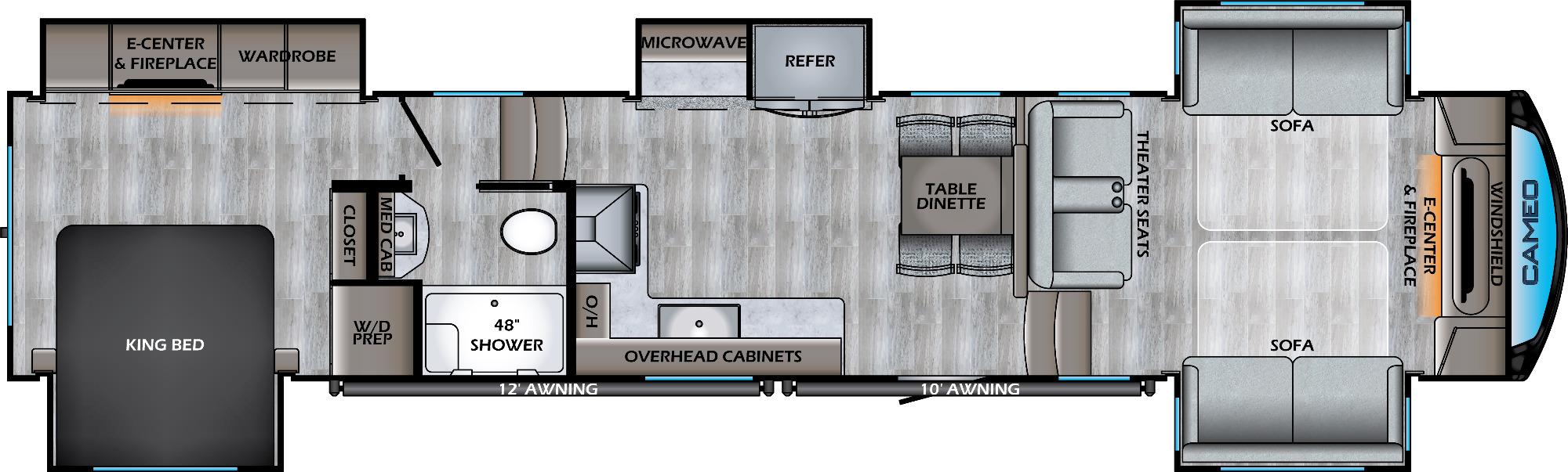 View Floor Plan for 2021 CROSSROADS CAMEO 4031FL