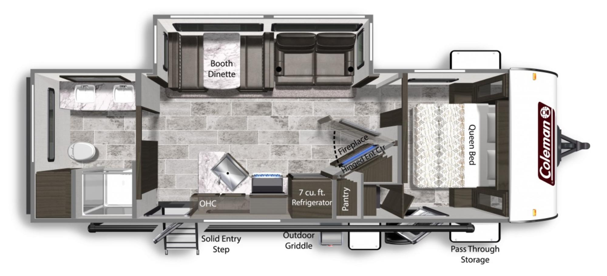 View Floor Plan for 2021 COLEMAN COLEMAN LIGHT 2625RB