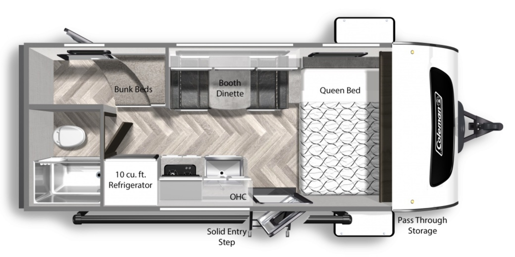 View Floor Plan for 2021 COLEMAN COLEMAN RUBICON 1628BH