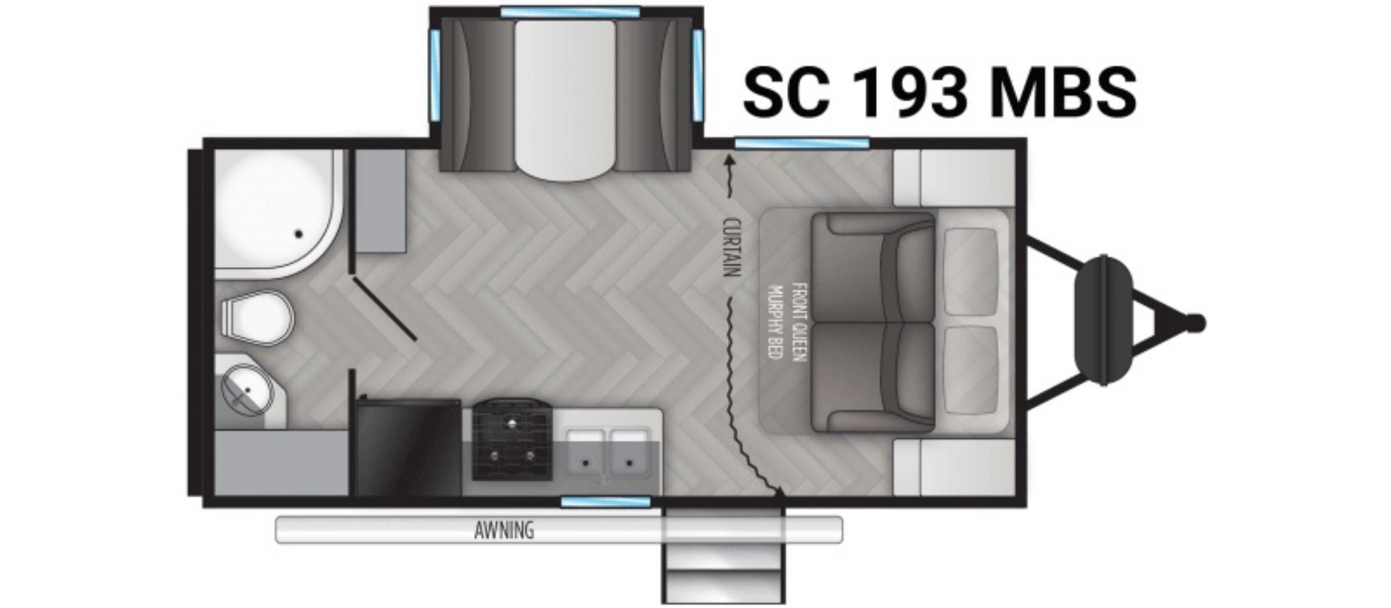 View Floor Plan for 2022 CRUISER RV SHADOW CRUISER ID193MBS