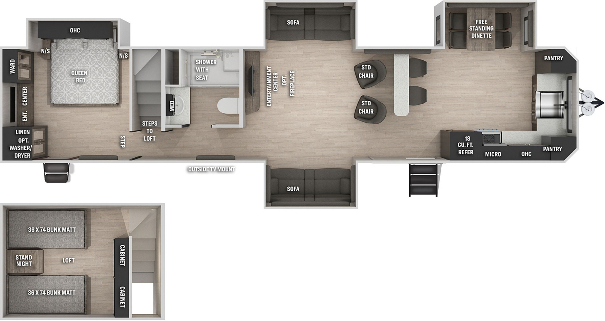 View Floor Plan for 2021 FOREST RIVER CHEROKEE BLACK LABEL 39SRBL