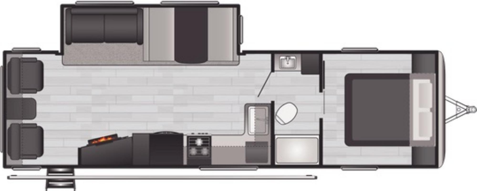 View Floor Plan for 2021 KEYSTONE SPRINGDALE 285TL