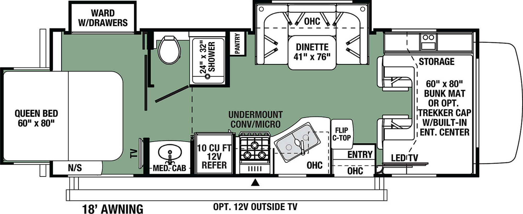 View Floor Plan for 2022 FOREST RIVER FORESTER 2501TSF