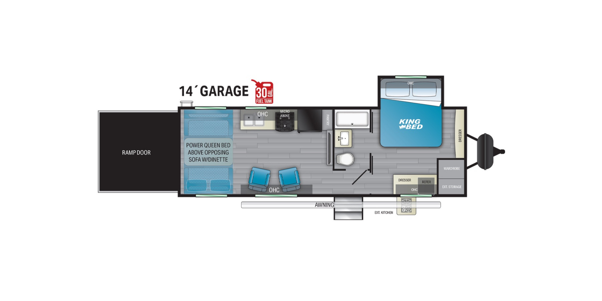 View Floor Plan for 2021 HEARTLAND TORQUE T274