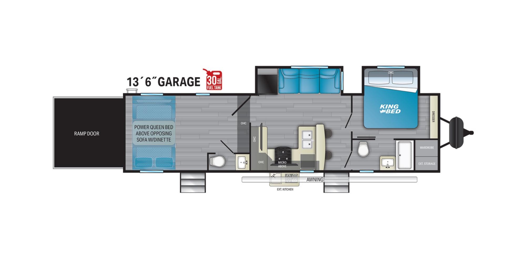 View Floor Plan for 2021 HEARTLAND TORQUE T331