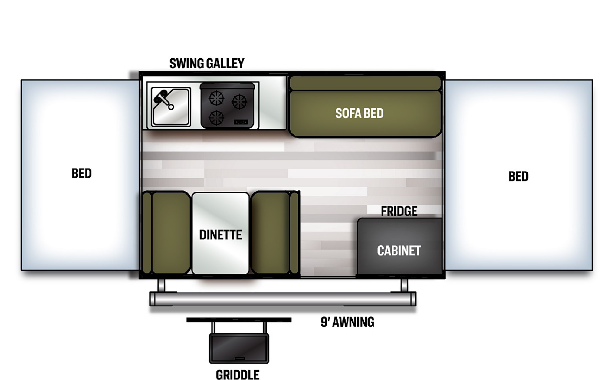 View Floor Plan for 2021 FOREST RIVER FLAGSTAFF SE 207SE