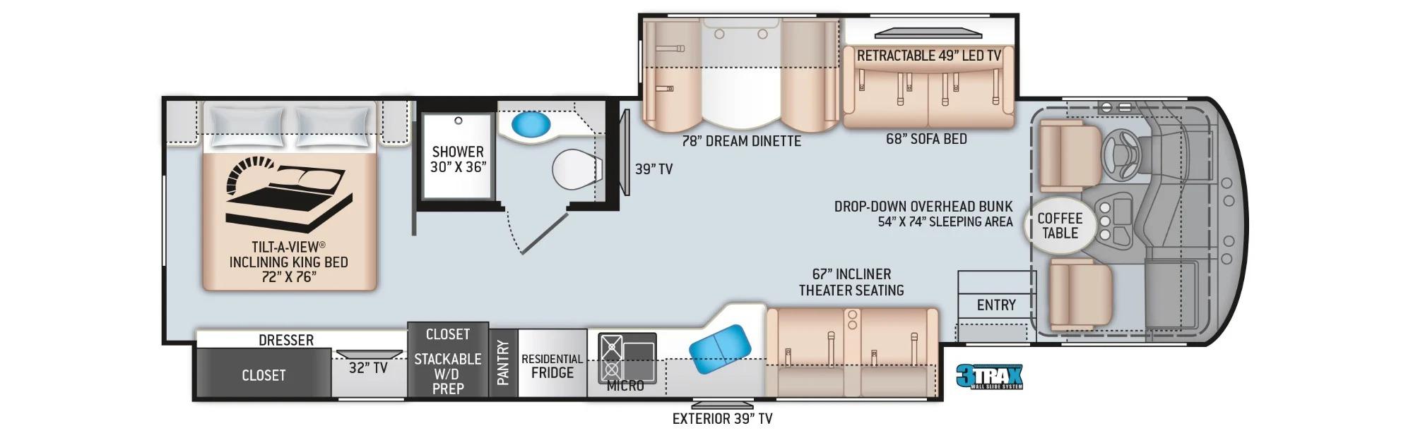 View Floor Plan for 2022 THOR MIRAMAR 35.2