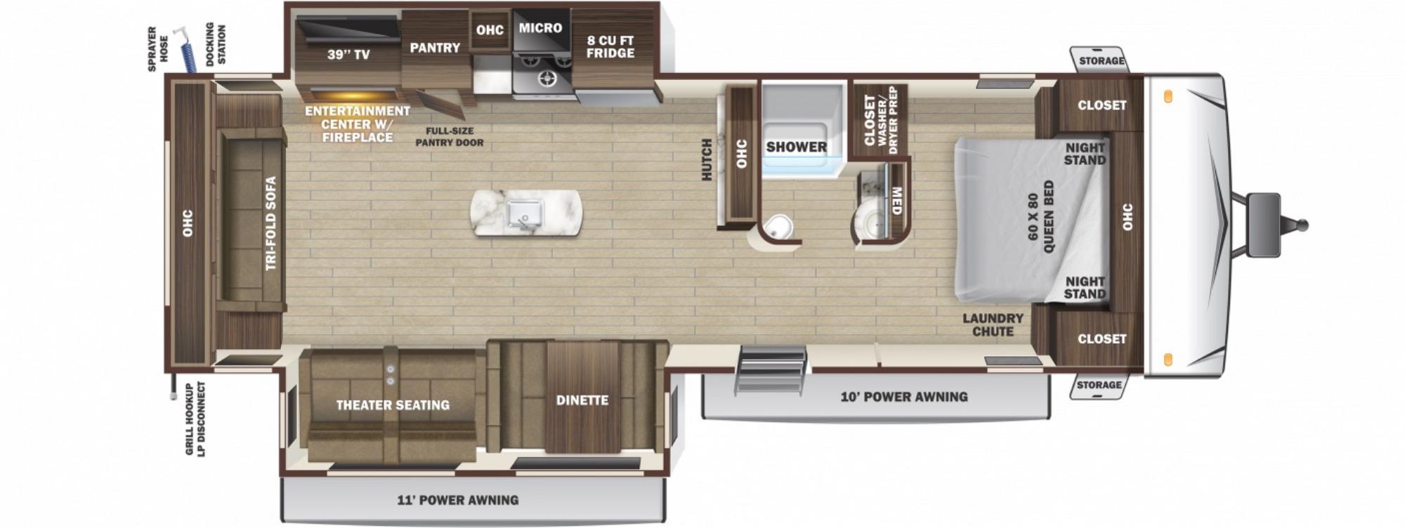 View Floor Plan for 2021 HIGHLAND RIDGE LIGHT 290RLS