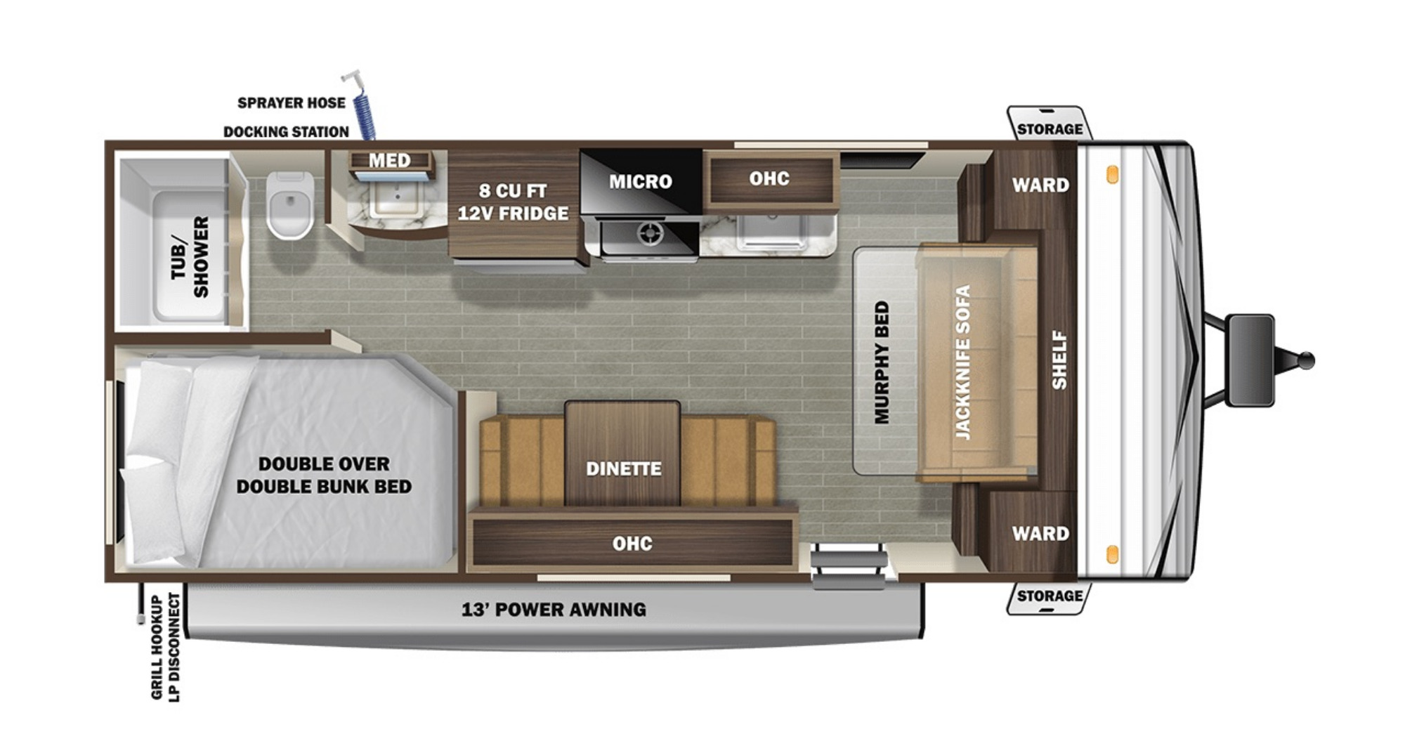 View Floor Plan for 2021 STARCRAFT AUTUMN RIDGE 20MB