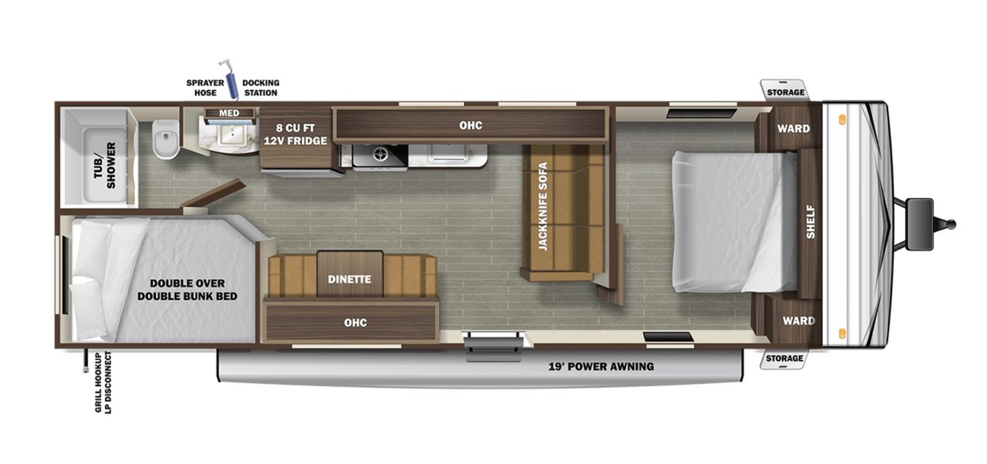 View Floor Plan for 2021 STARCRAFT AUTUMN RIDGE 26BH