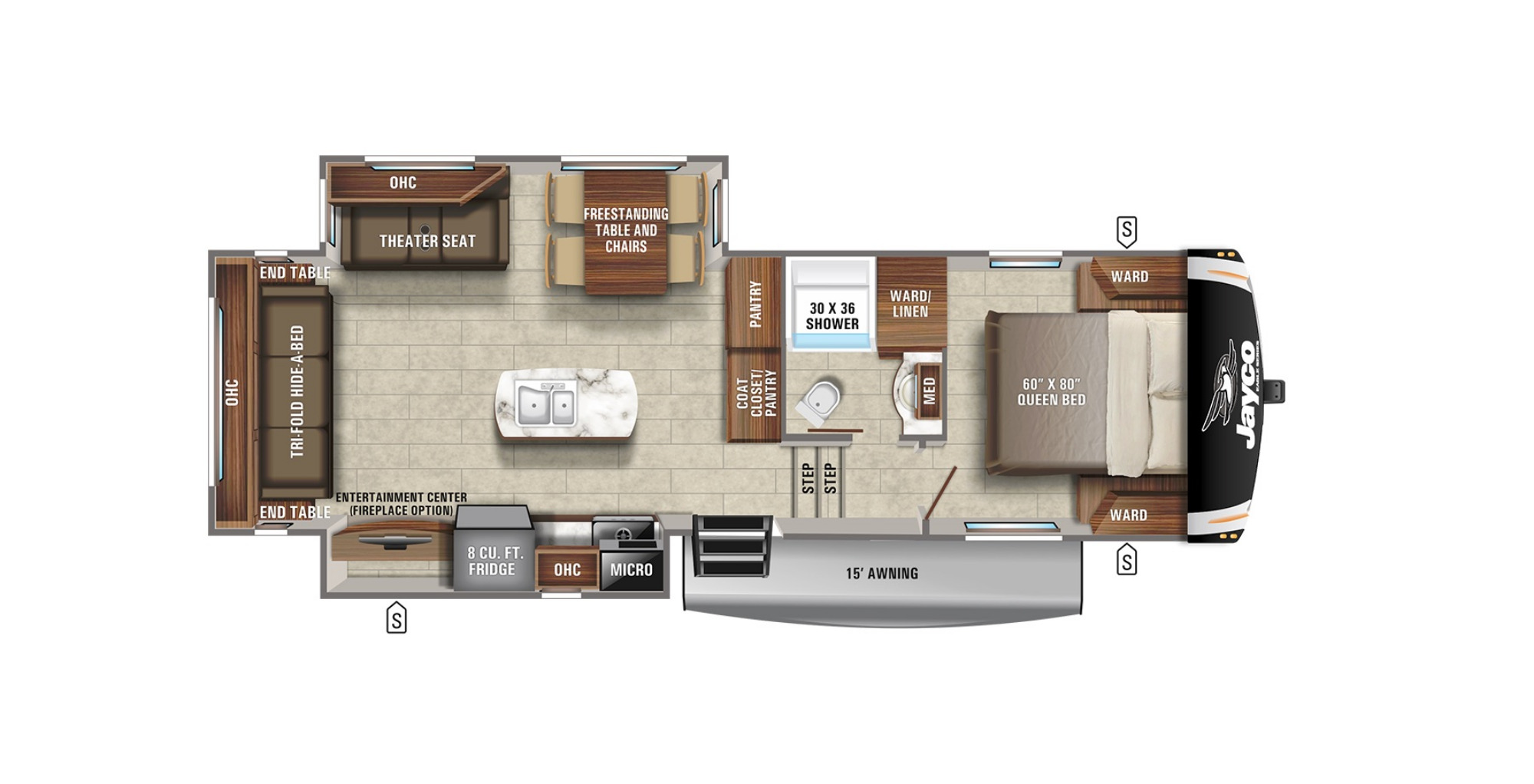 View Floor Plan for 2021 JAYCO EAGLE HT 27RL