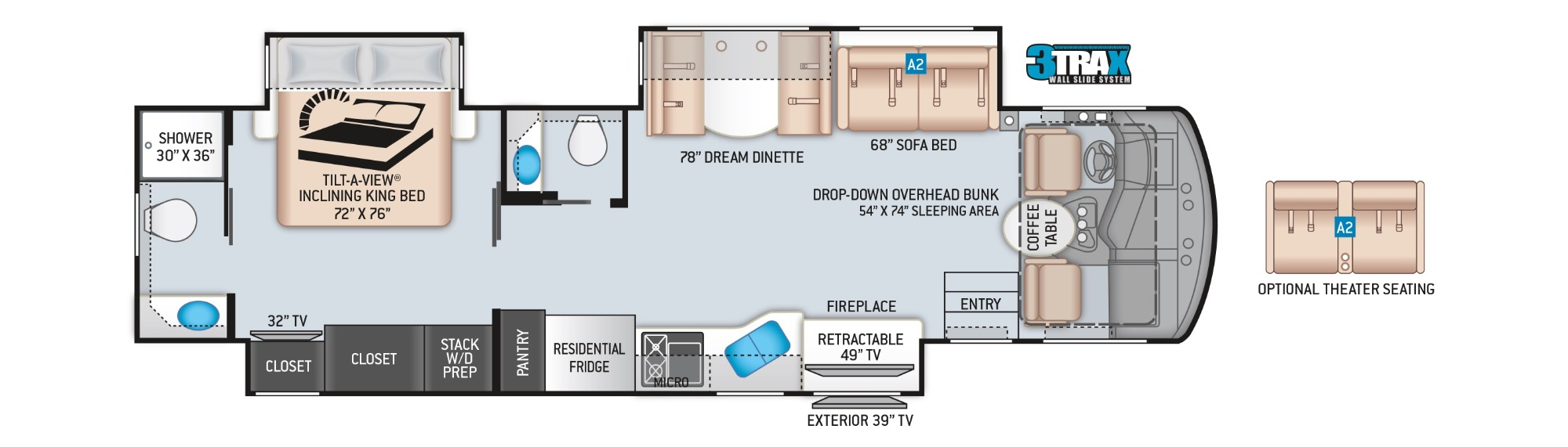 View Floor Plan for 2022 THOR CHALLENGER 37FH