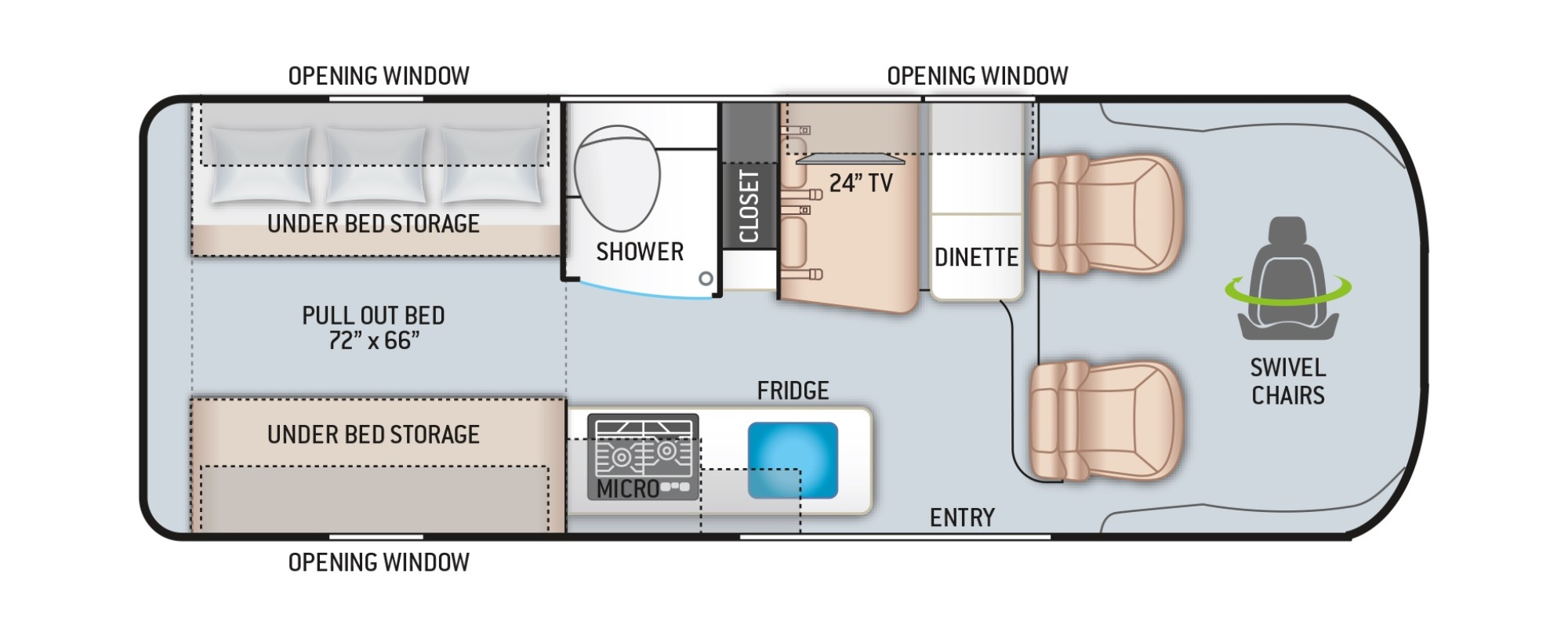 View Floor Plan for 2022 THOR SEQUENCE 20A