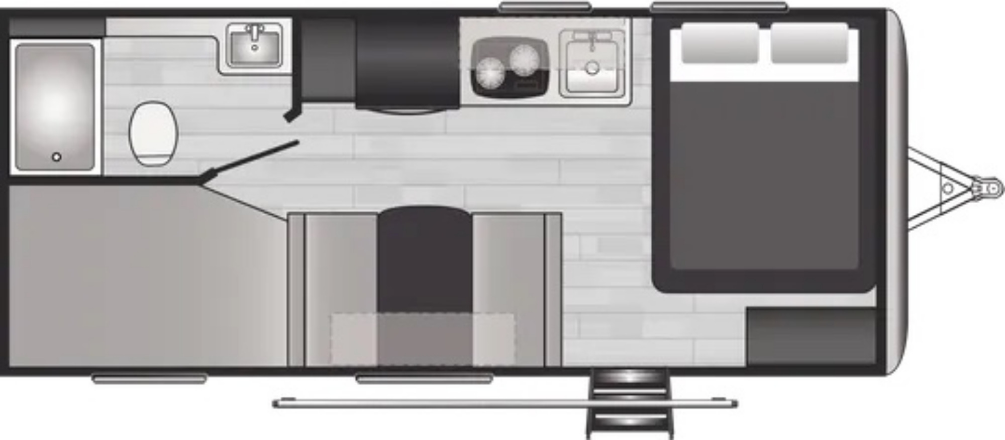 View Floor Plan for 2021 KEYSTONE SPRINGDALE 2010BH