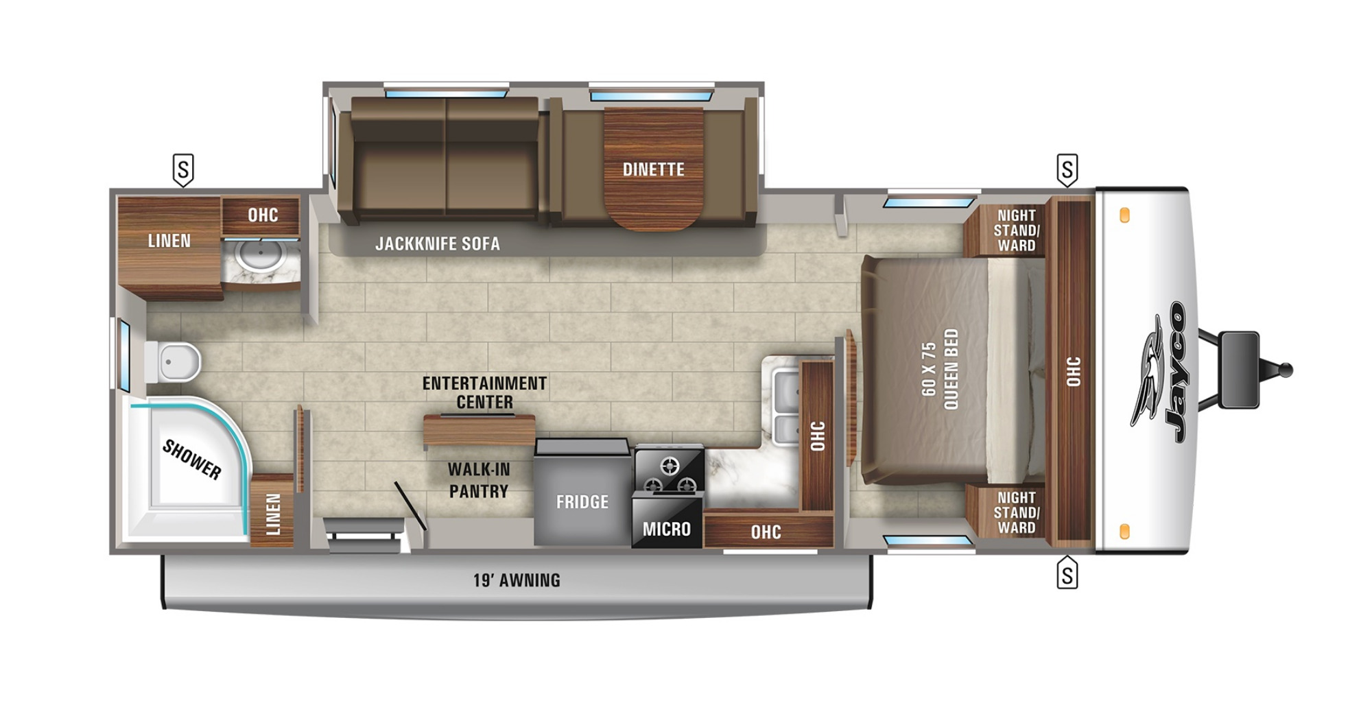 View Floor Plan for 2022 JAYCO JAY FEATHER 25RB