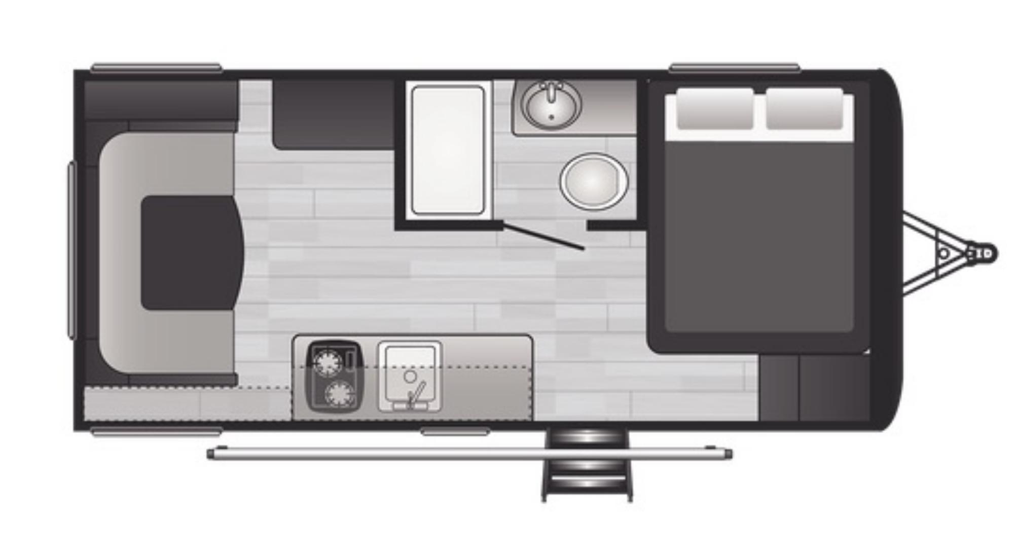 View Floor Plan for 2022 KEYSTONE HIDEOUT 177RD