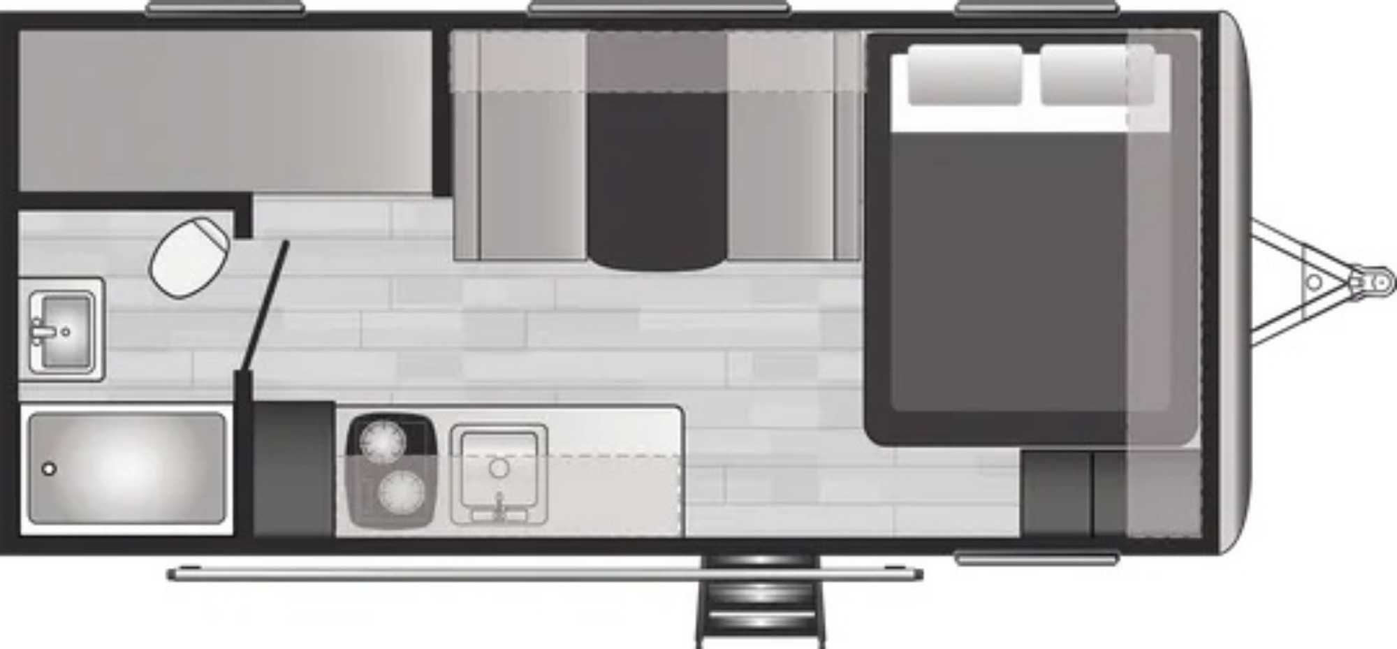 View Floor Plan for 2022 KEYSTONE SPRINGDALE 1800BH