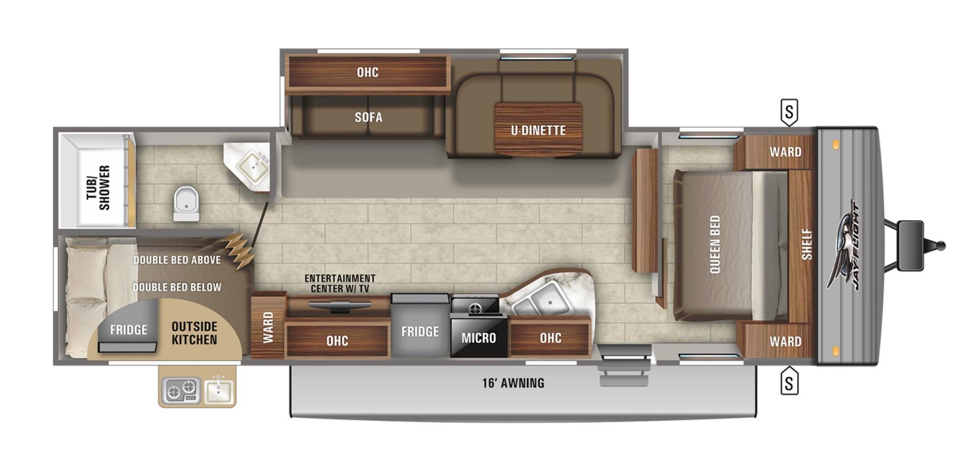 View Floor Plan for 2022 JAYCO JAY FLIGHT SLX 284BHS