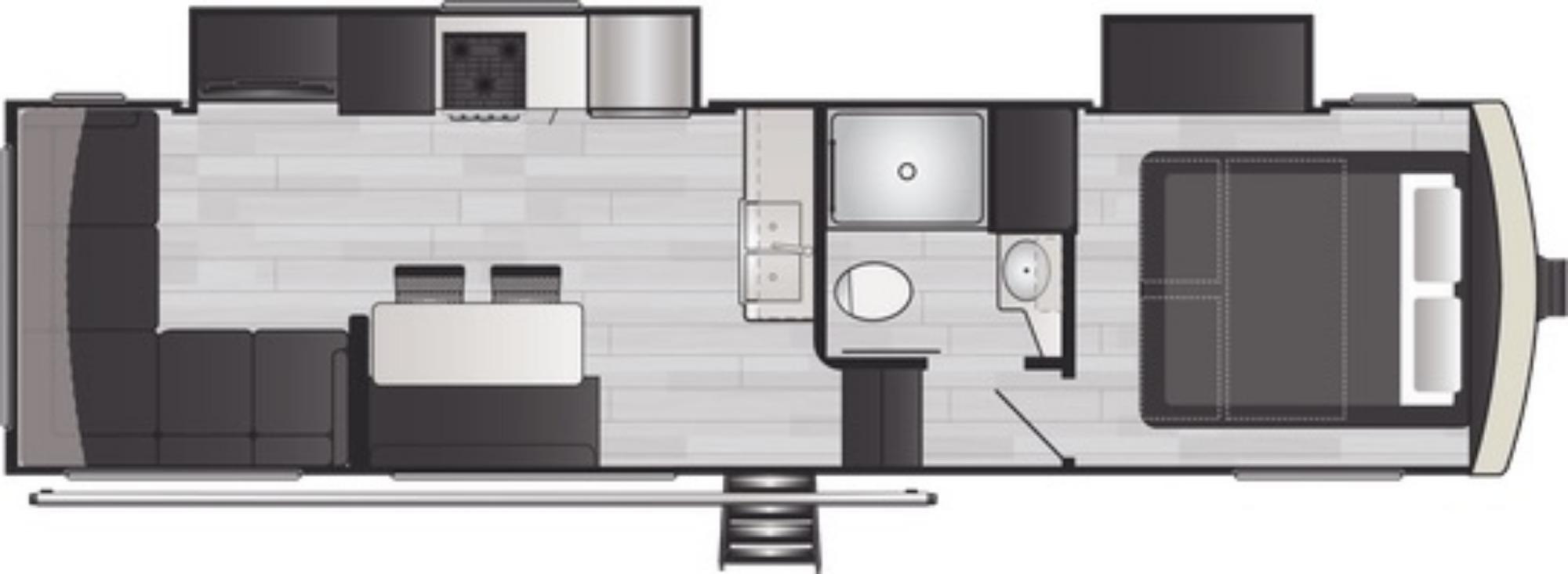 View Floor Plan for 2021 KEYSTONE ARCADIA 3250RL