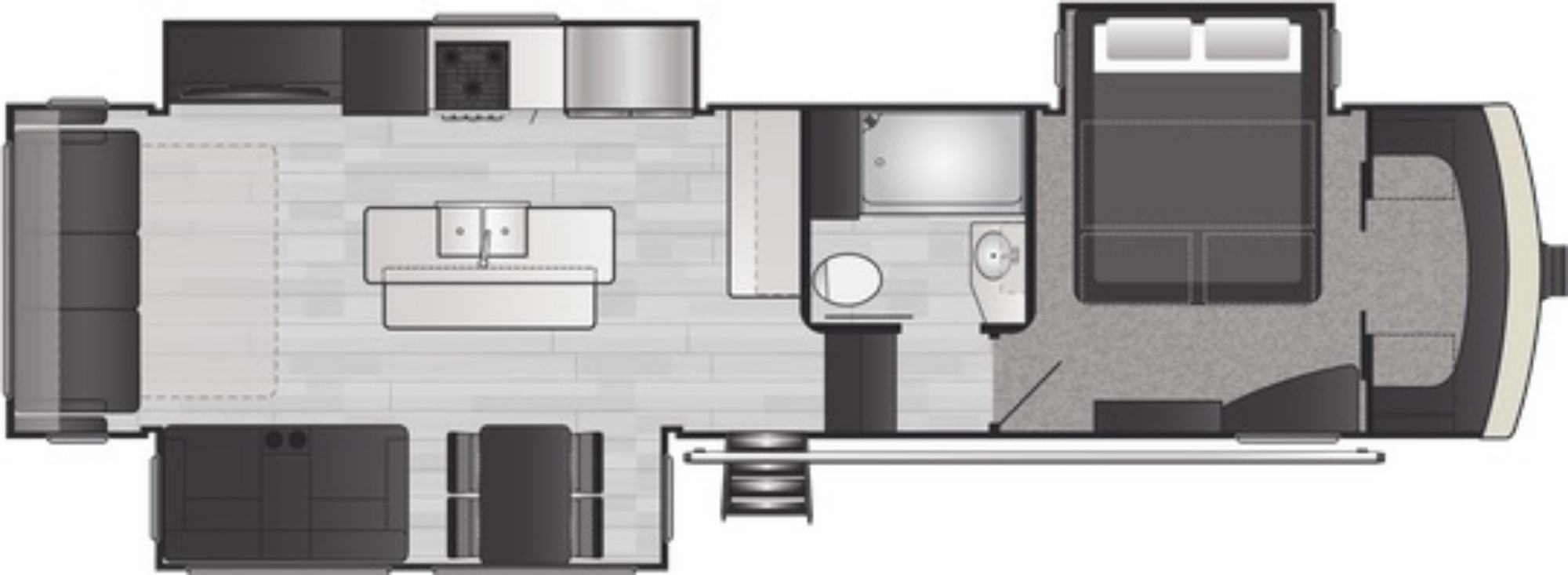 View Floor Plan for 2021 KEYSTONE ARCADIA 3660RL