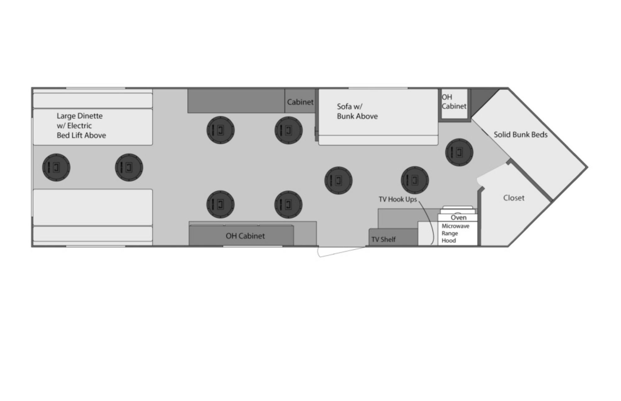 View Floor Plan for 2022 VOYAGER YETTI A824-PK