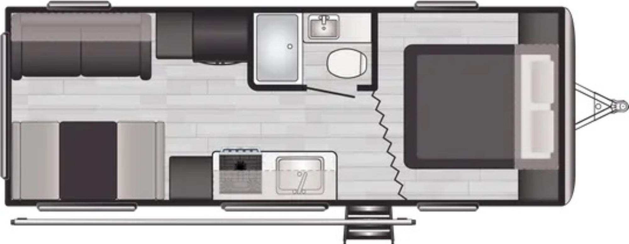 View Floor Plan for 2022 KEYSTONE SPRINGDALE 220RD