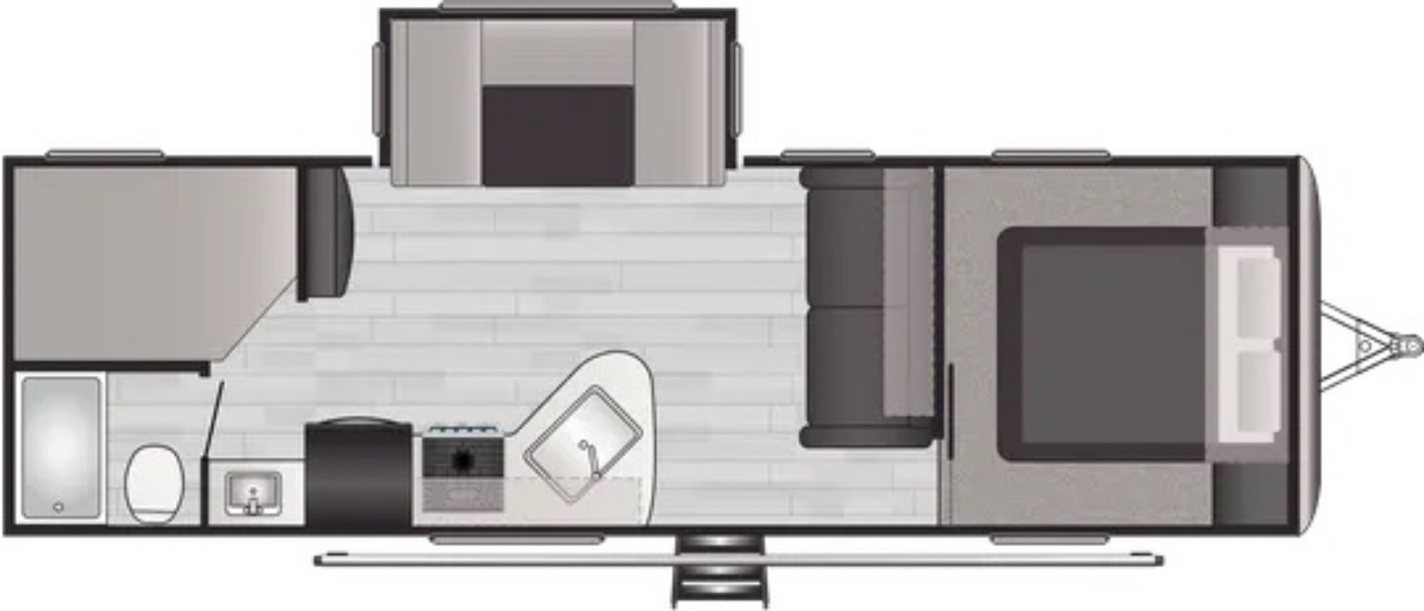 View Floor Plan for 2022 KEYSTONE SPRINGDALE 275BH