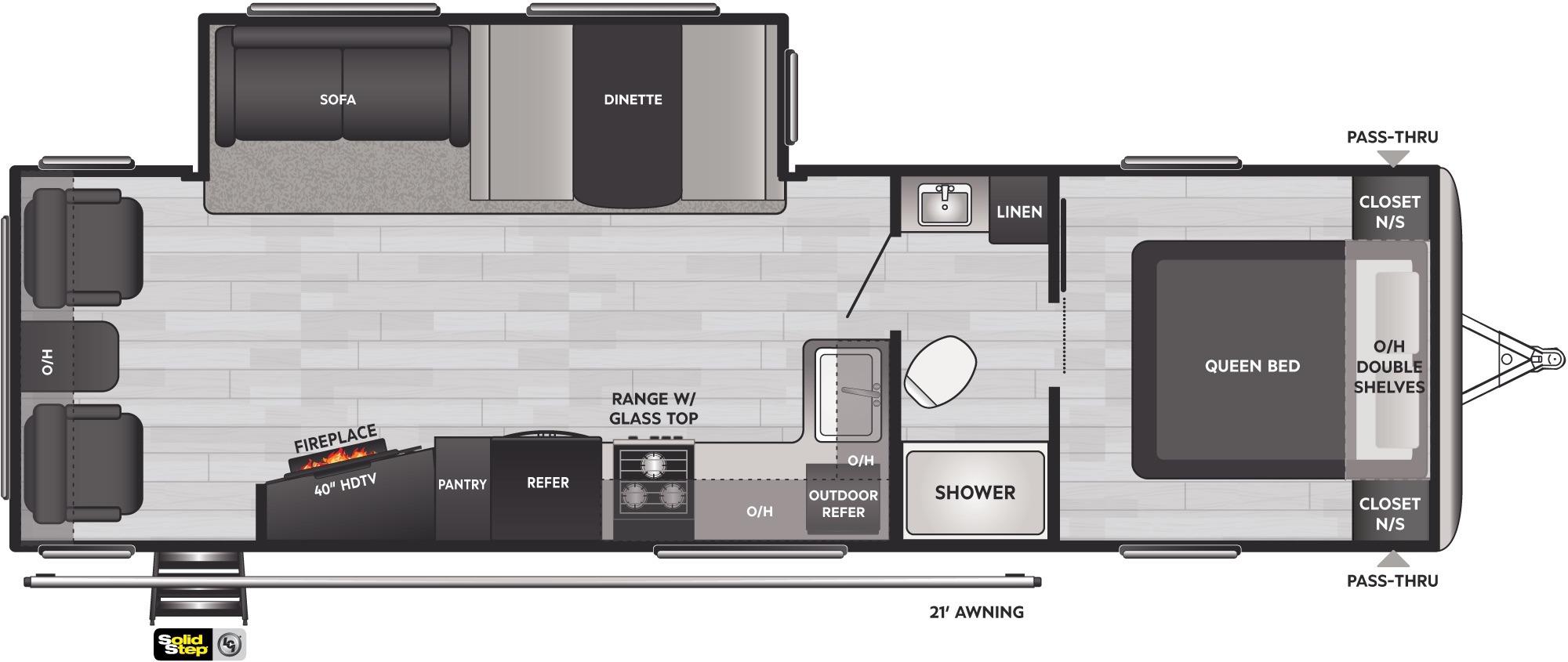 View Floor Plan for 2022 KEYSTONE SPRINGDALE 285TL