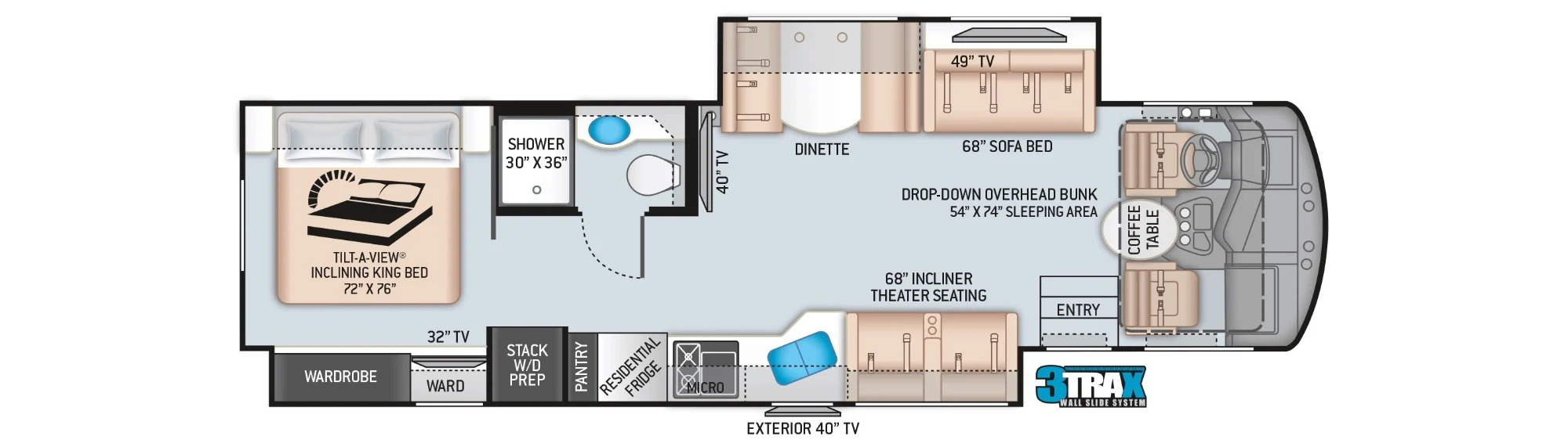View Floor Plan for 2022 THOR CHALLENGER 35MQ