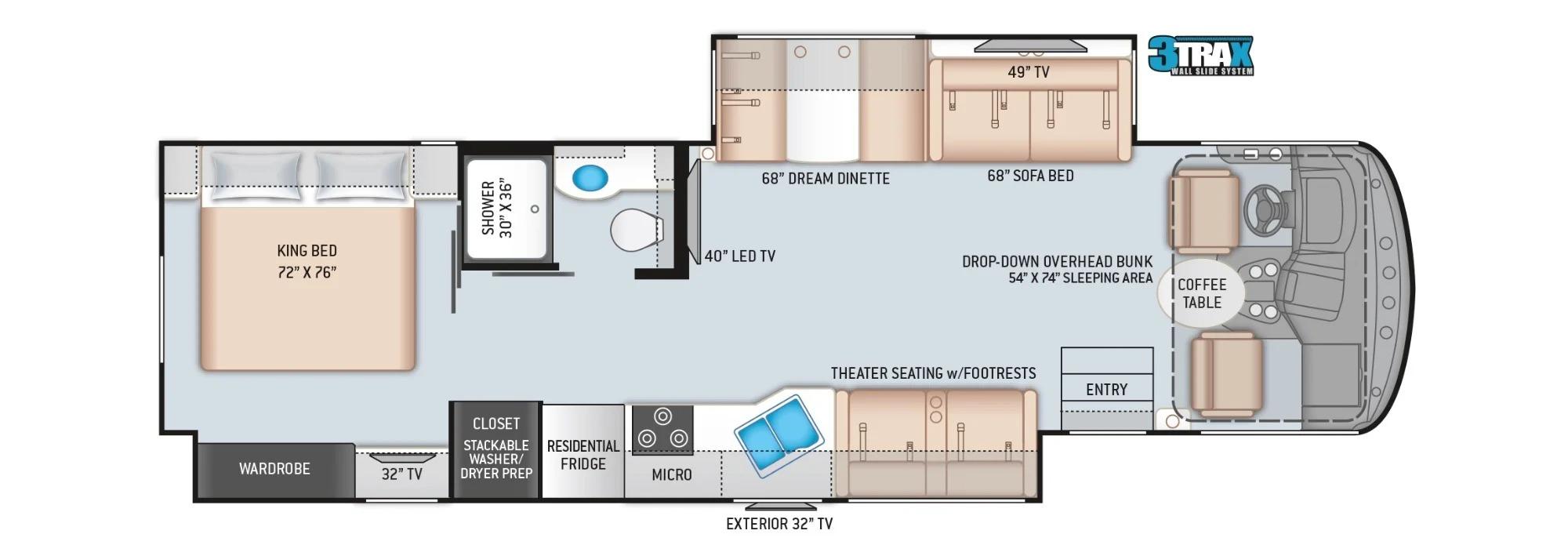 View Floor Plan for 2022 THOR WINDSPORT 34R