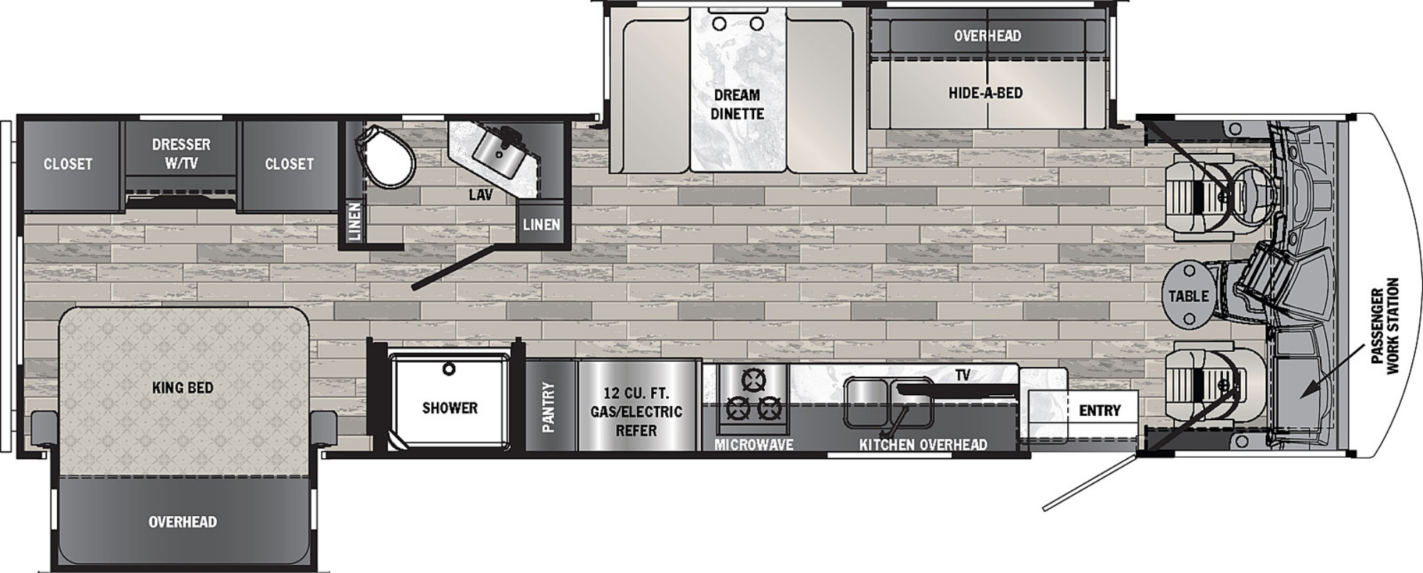 View Floor Plan for 2022 FOREST RIVER GEORGETOWN 3 SERIES 32A