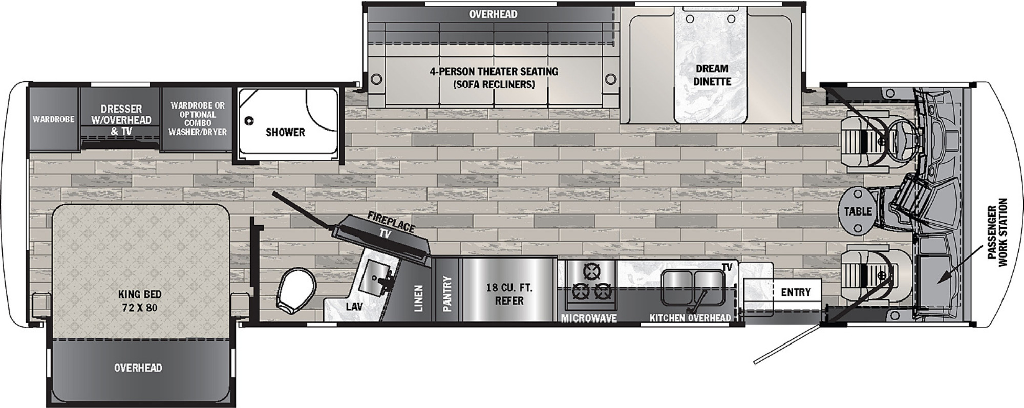 View Floor Plan for 2022 FOREST RIVER GEORGETOWN 5 SERIES 31L