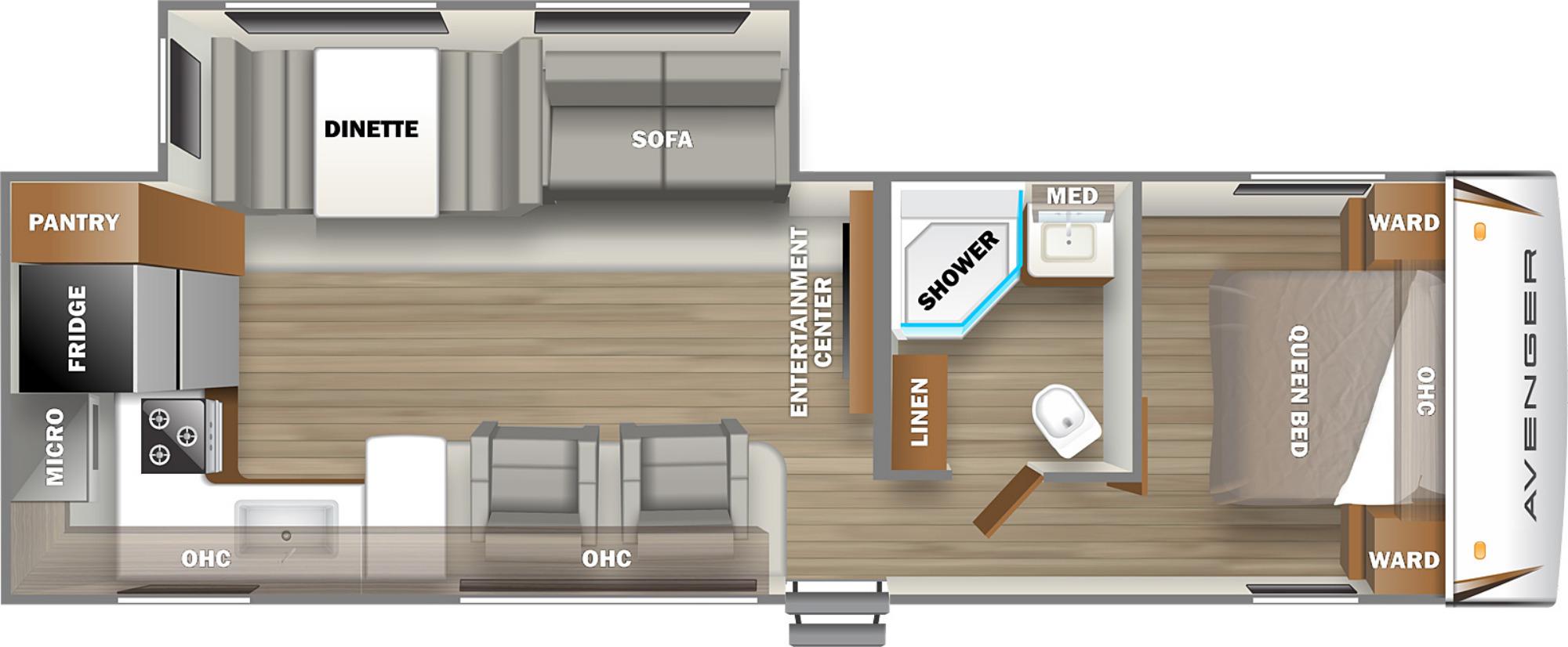 View Floor Plan for 2022 PRIME TIME AVENGER 27RKS