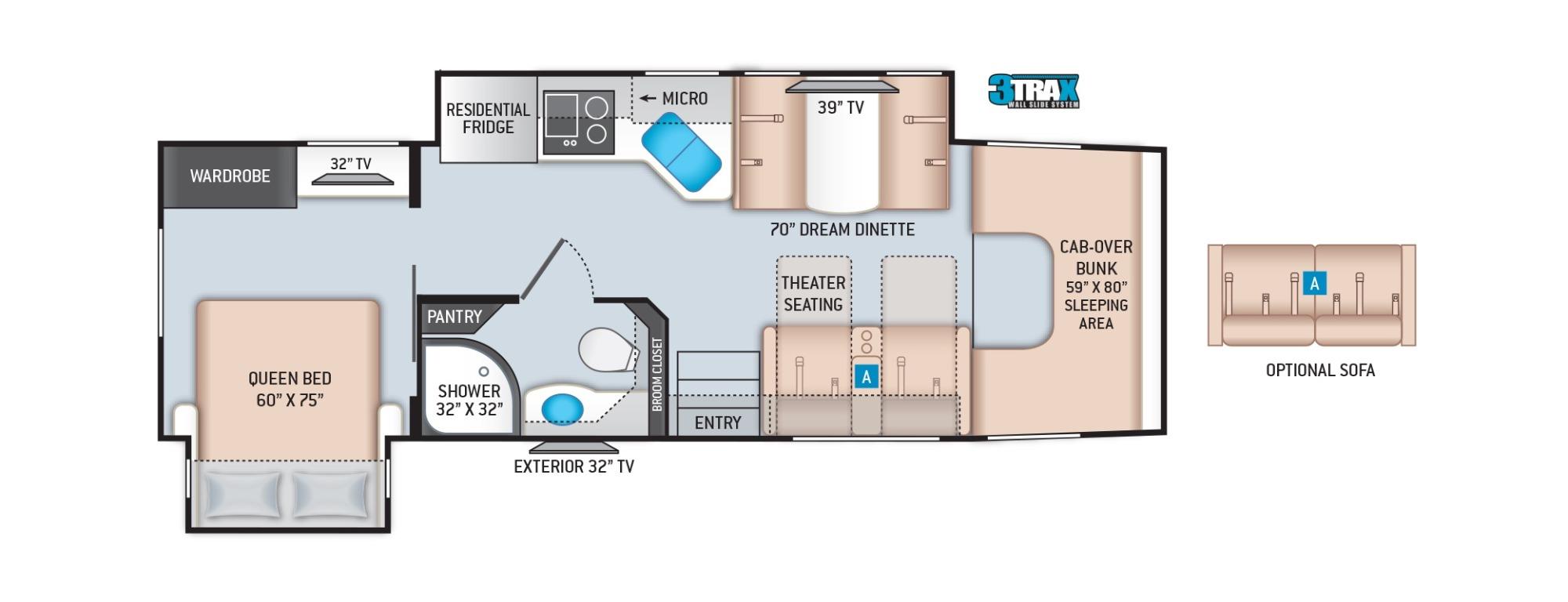 View Floor Plan for 2022 THOR OMNI XG32