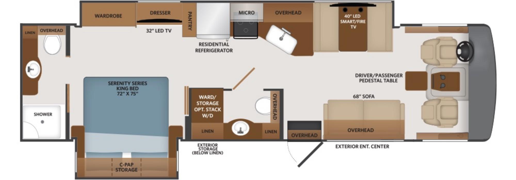 View Floor Plan for 2022 FLEETWOOD FORTIS 33HB
