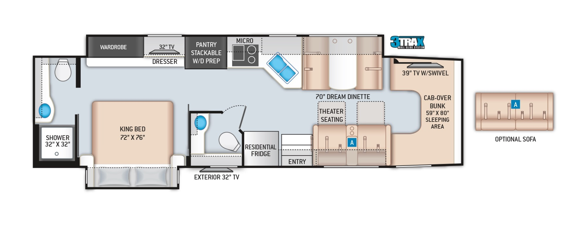 View Floor Plan for 2022 THOR OMNI BT36