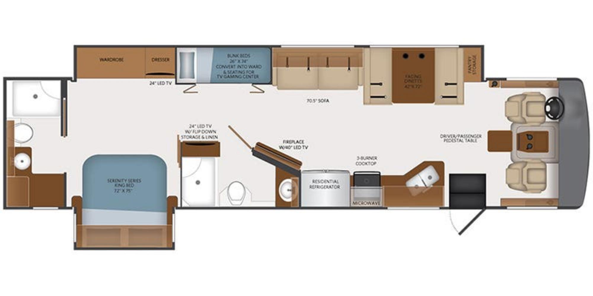 View Floor Plan for 2022 FLEETWOOD BOUNDER 36F