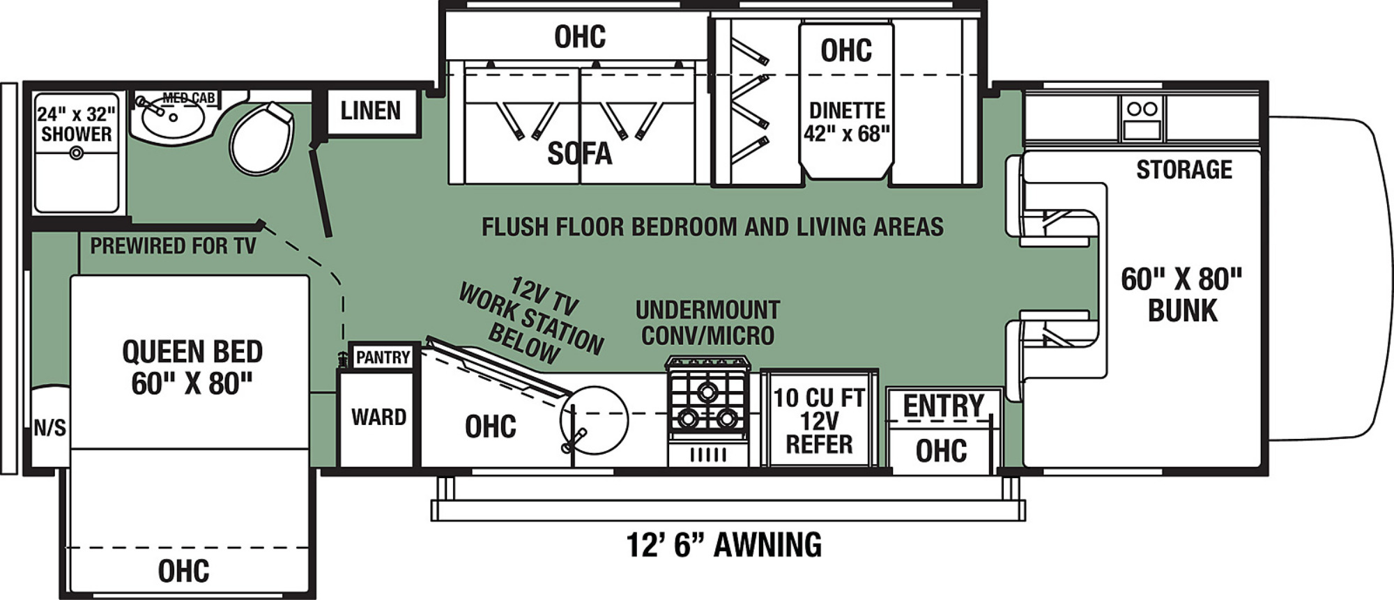 View Floor Plan for 2022 FOREST RIVER FORESTER LE 2551DSC