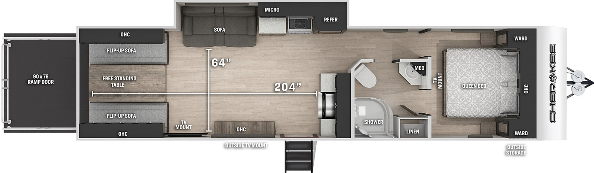 View Floor Plan for 2022 FOREST RIVER CHEROKEE 294RR