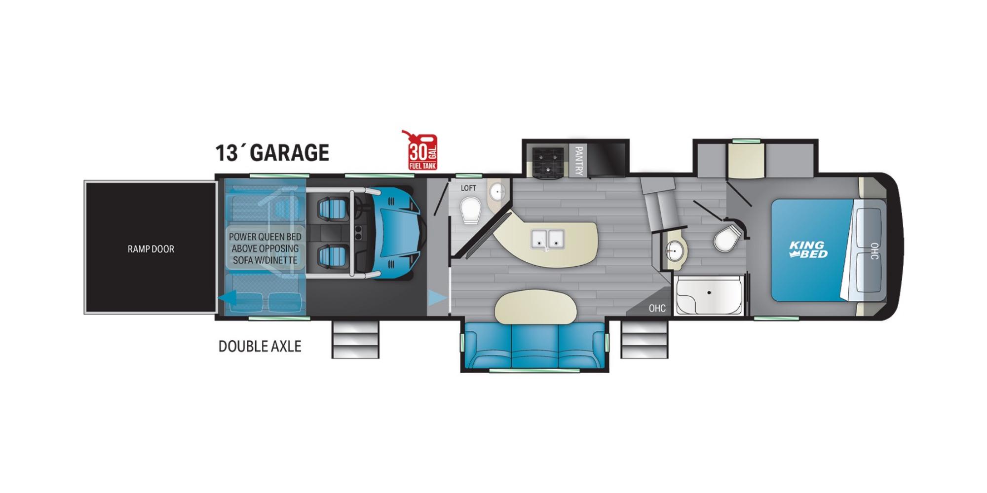 View Floor Plan for 2022 HEARTLAND FUEL 352