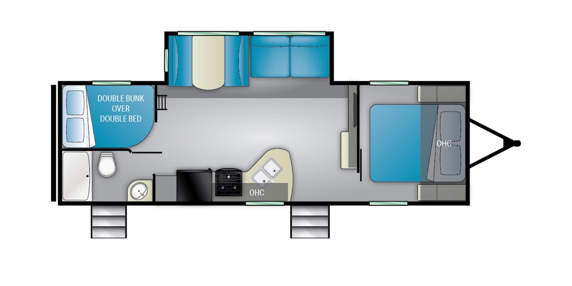 View Floor Plan for 2022 HEARTLAND PIONEER BH270