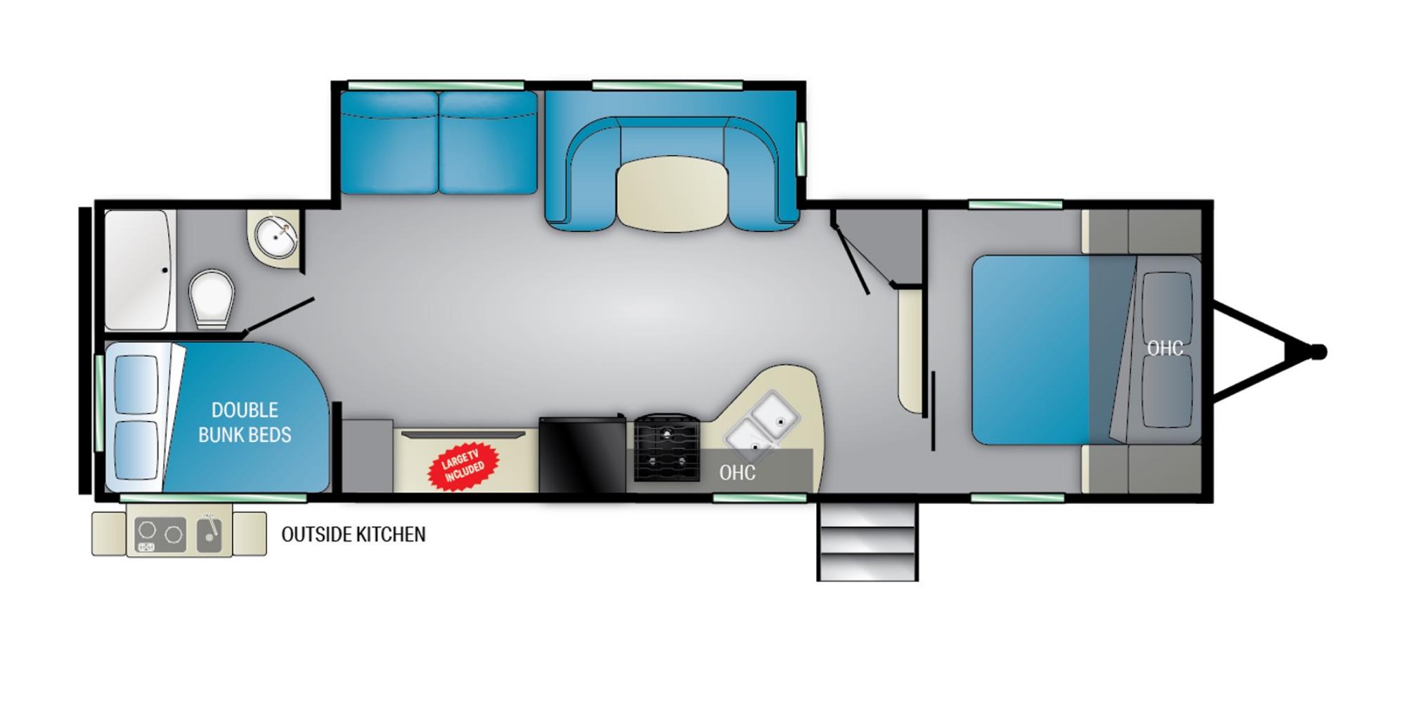 View Floor Plan for 2022 HEARTLAND PIONEER BH280