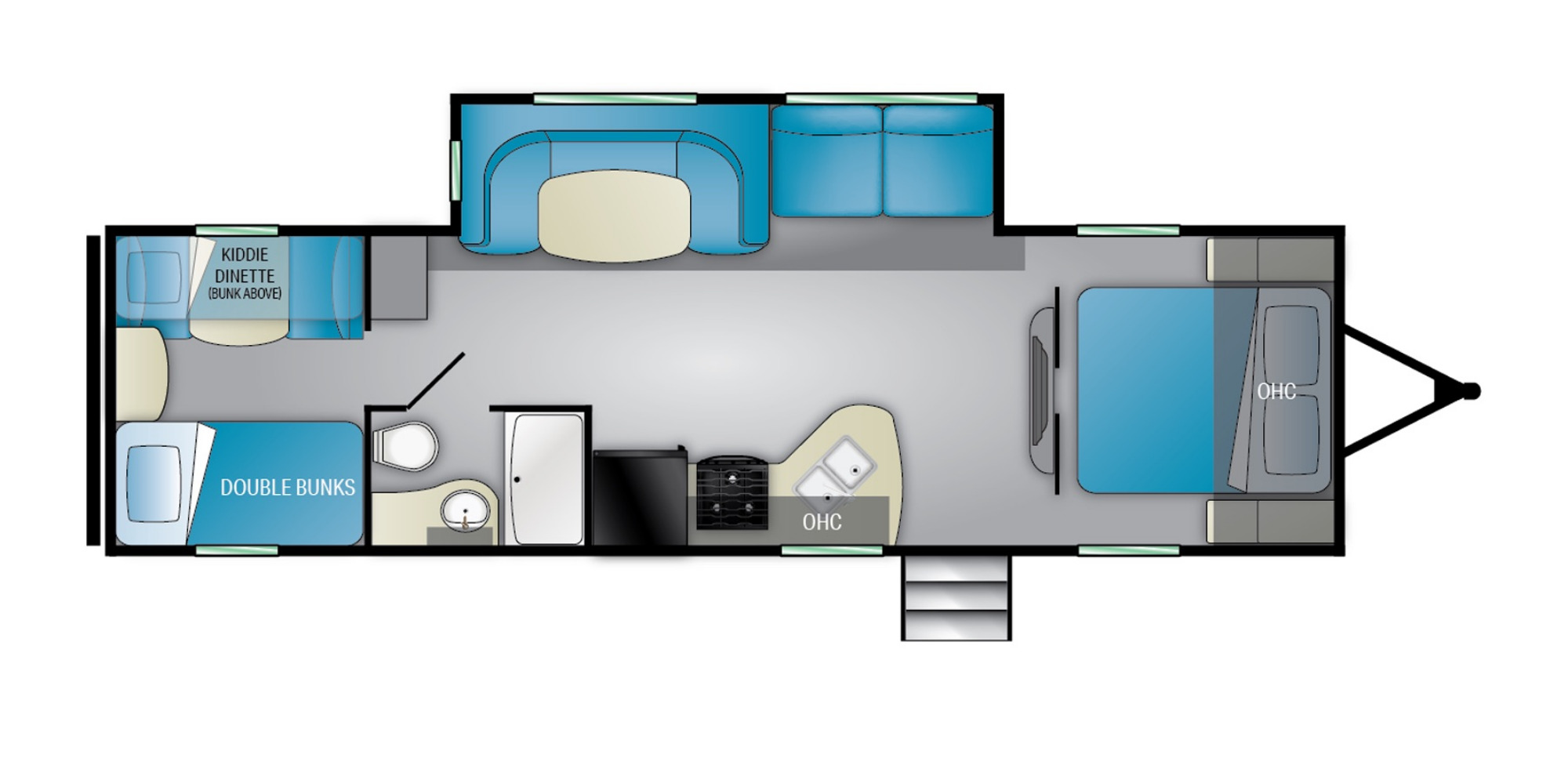 View Floor Plan for 2022 HEARTLAND PIONEER QB300