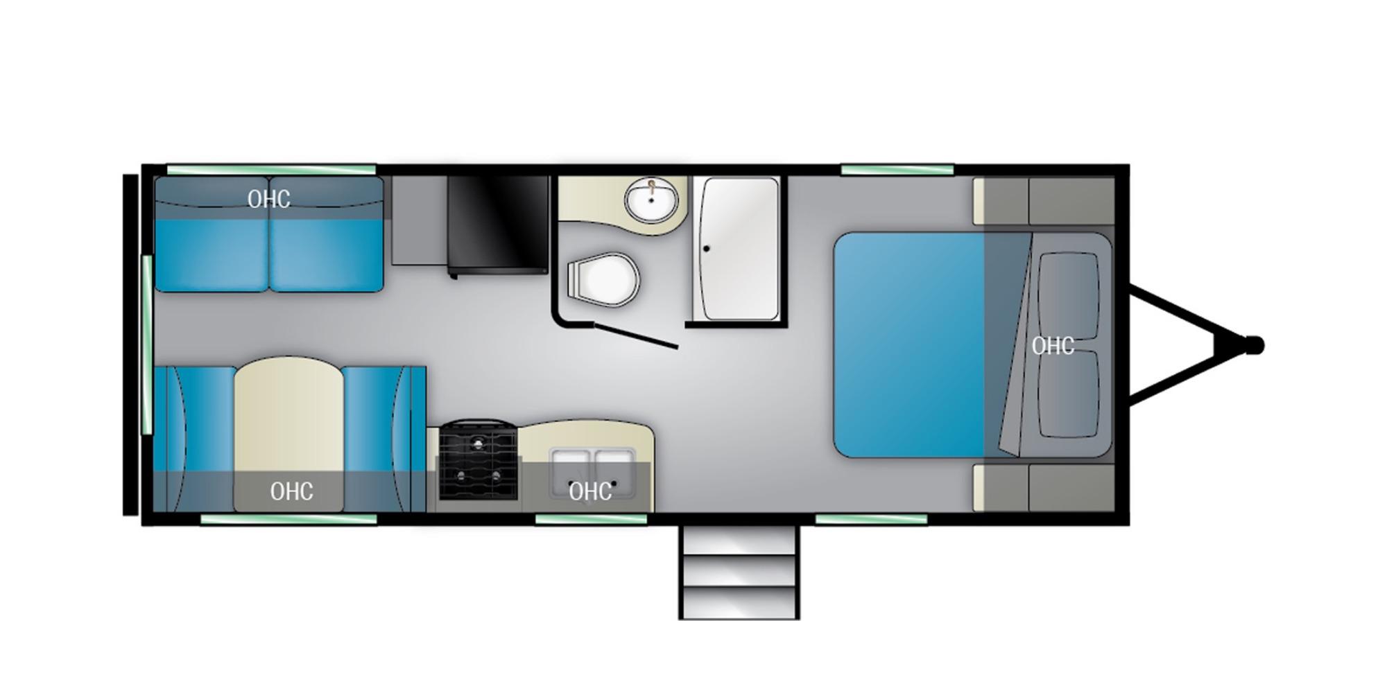 View Floor Plan for 2022 HEARTLAND PIONEER RD210
