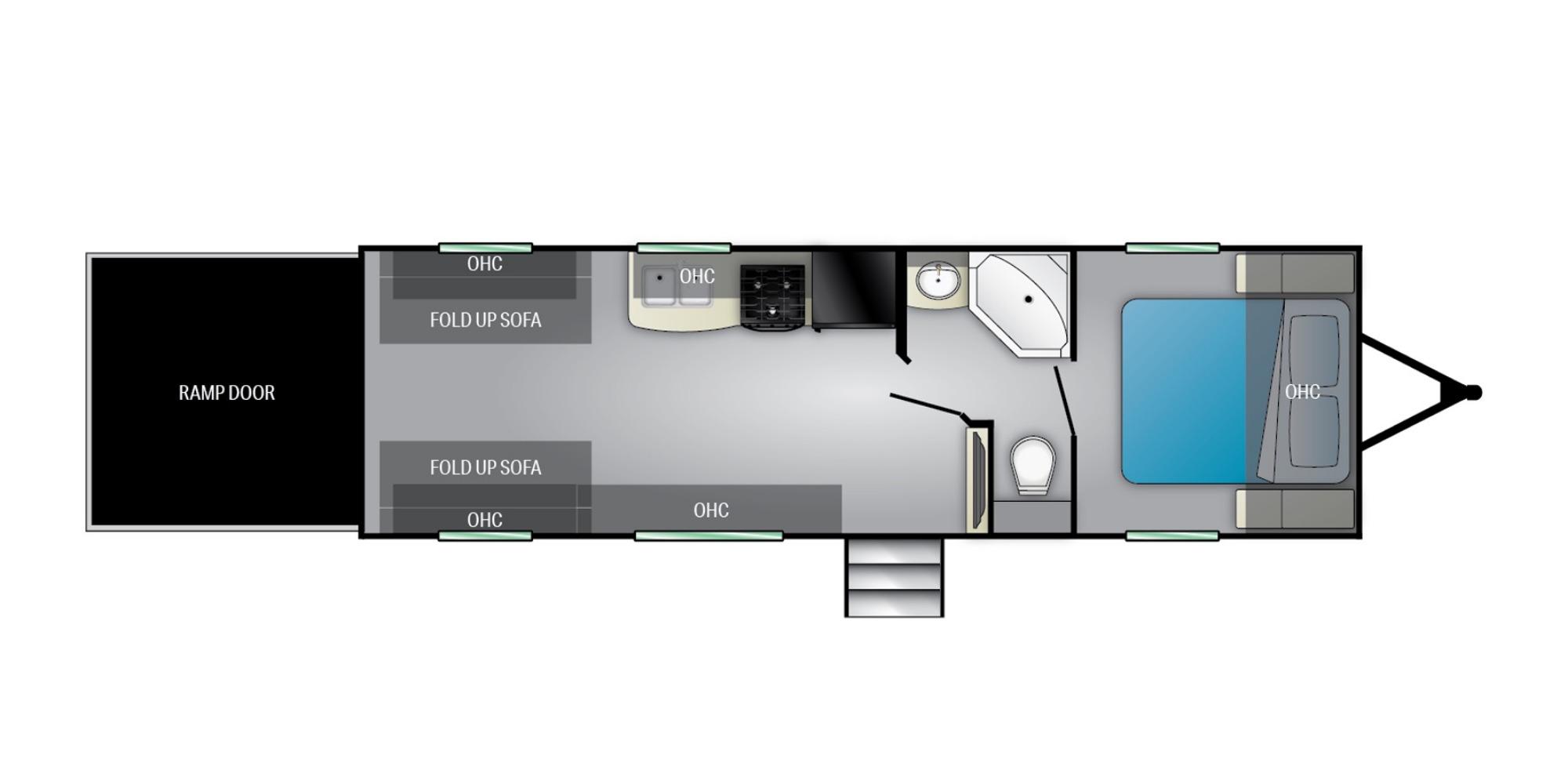 View Floor Plan for 2022 HEARTLAND PIONEER RG26