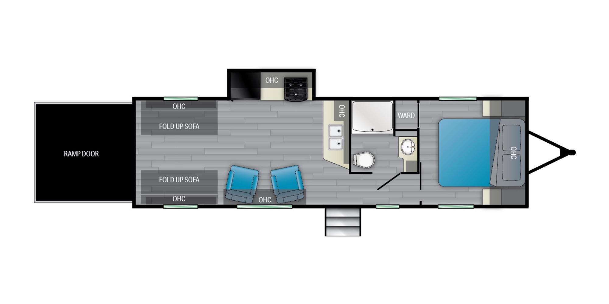 View Floor Plan for 2022 HEARTLAND PIONEER RG27